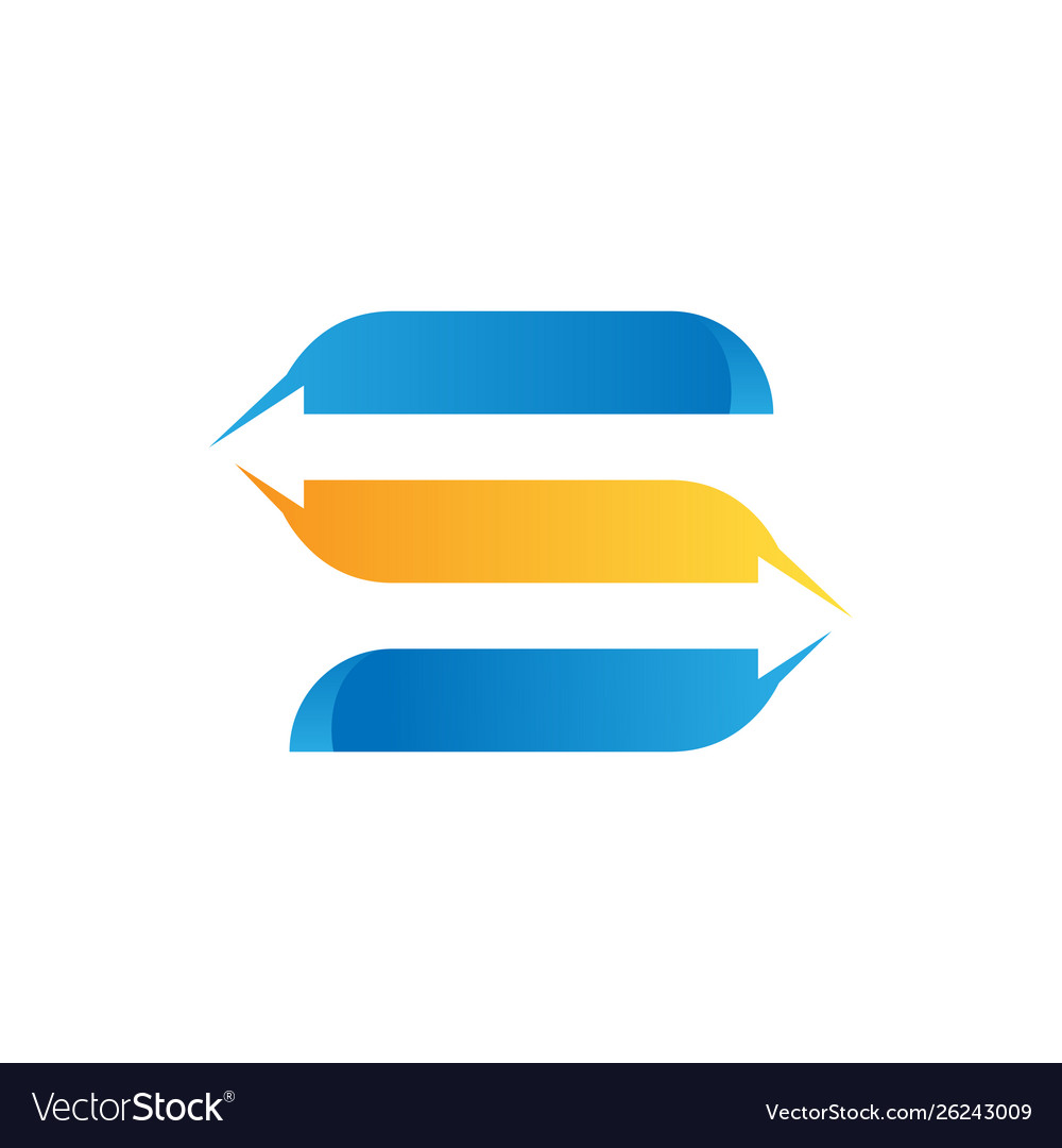 Letter s logistic freight company logo design