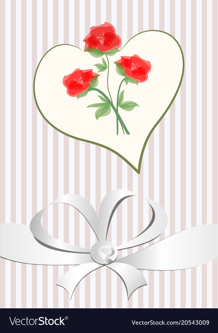 Love background with heart shape red roses