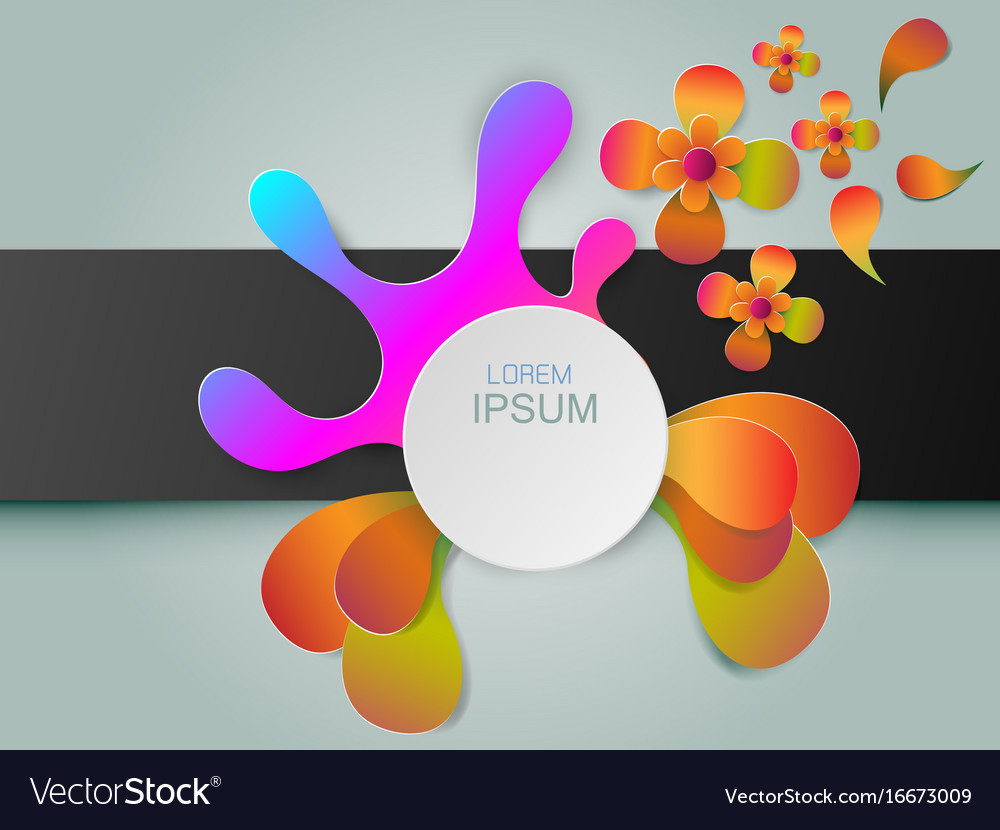 Modern background with colorful and circular