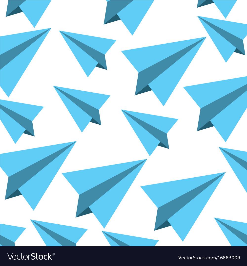 Paper airplane pattern background