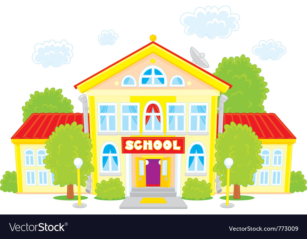 school royalty free vector image vectorstock rh vectorstock com School Vector Graphics Vector School Icon