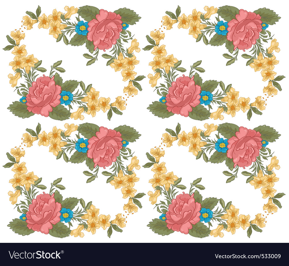 Vector illustration of stylish floral background