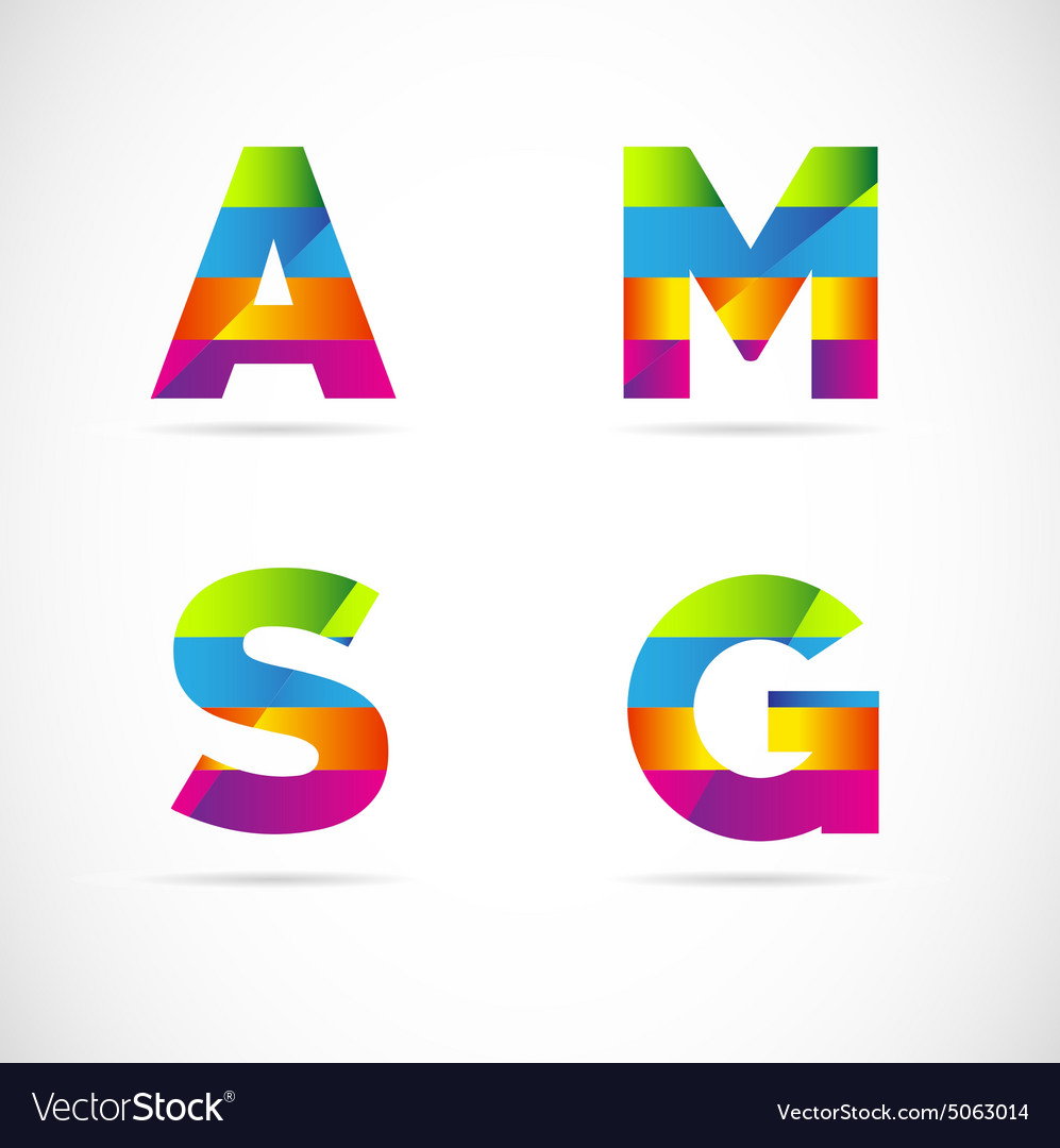 Alphabet letters logo icon set vector image