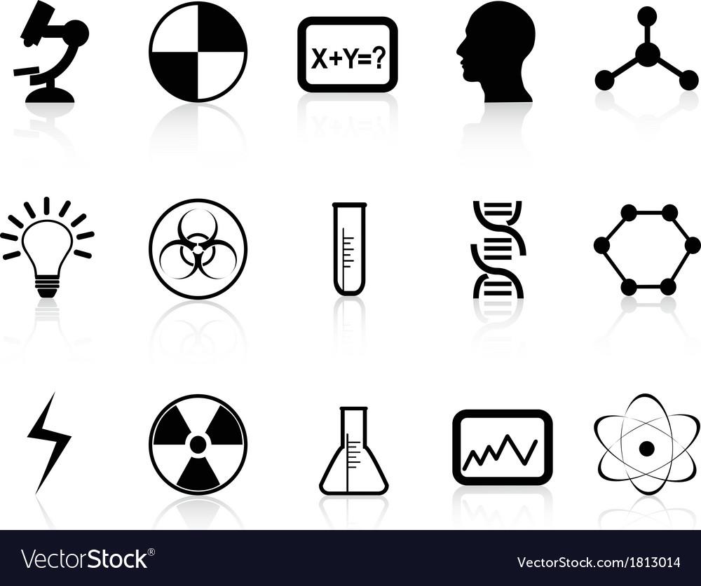Black science symbols