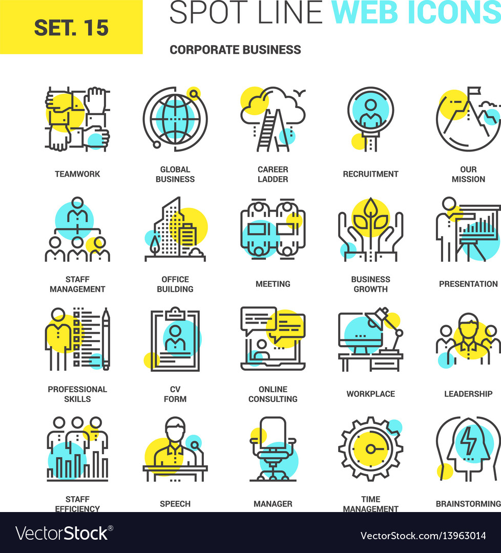Corporate business icons