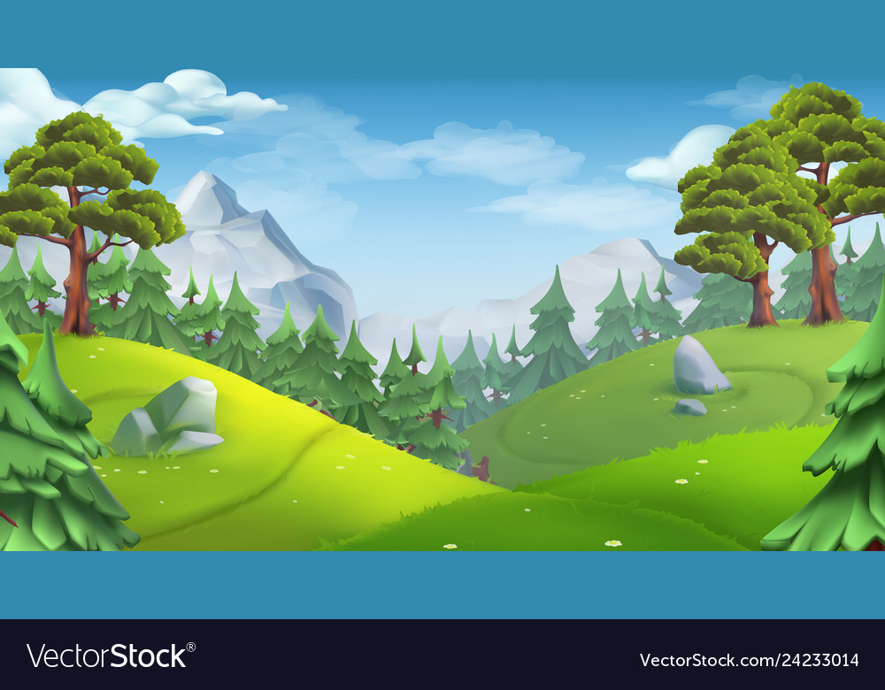 Forest nature landscape 3d background