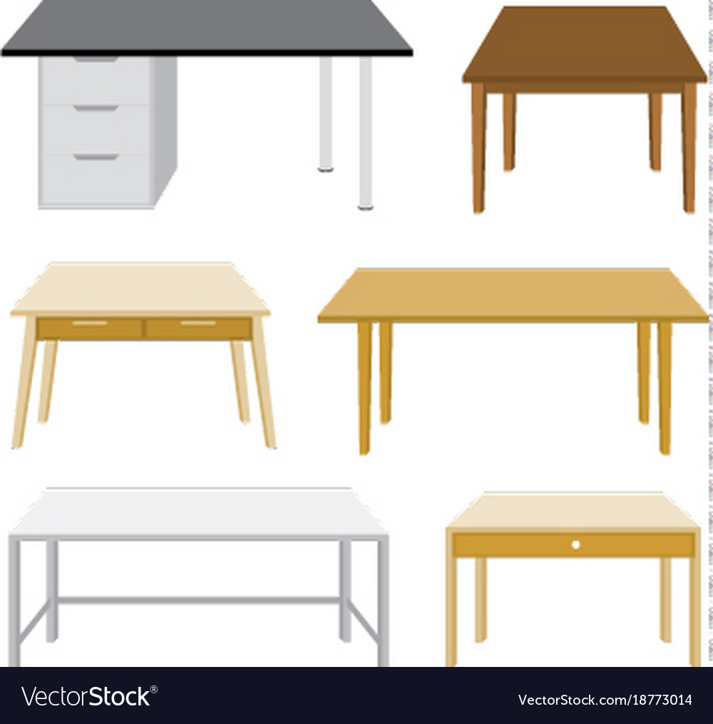 Furniture wooden table isolated