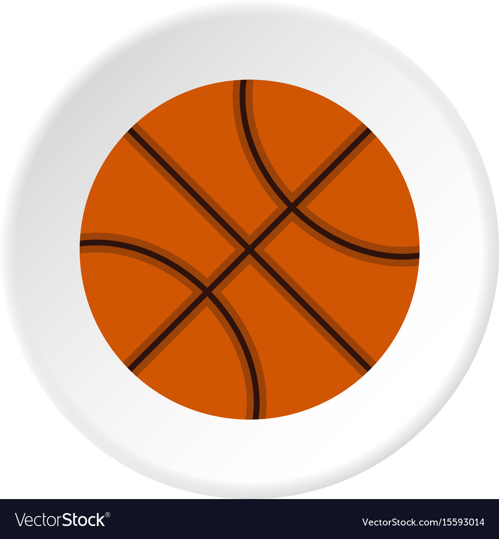Orange basketball ball icon circle