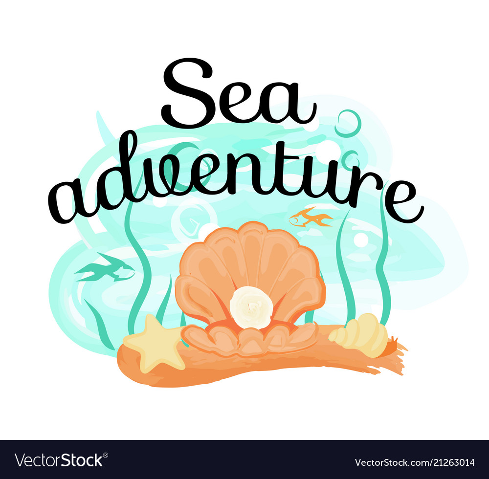 Sea adventure poster with opened light seas hell