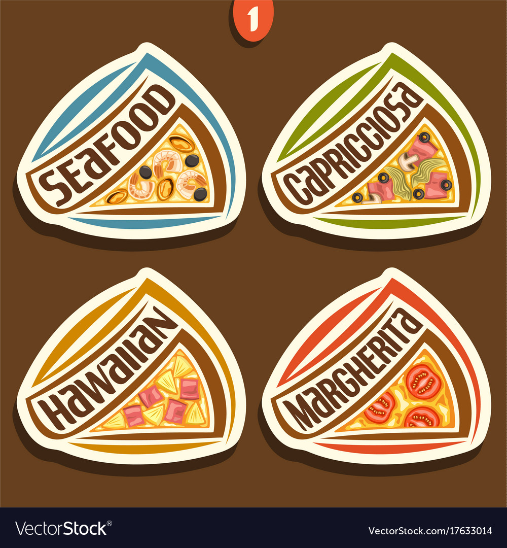 Set signs for italian pizza