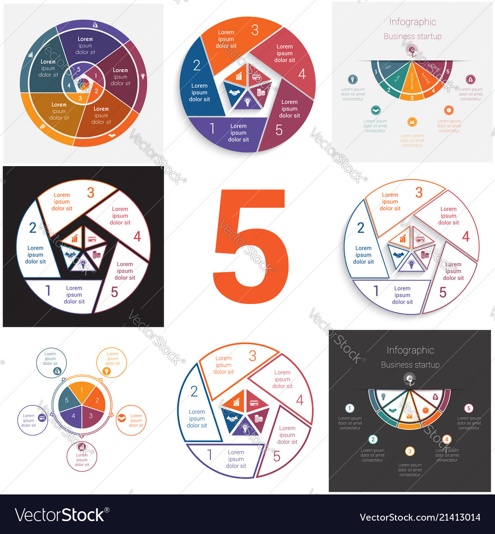 Set universal elements for templates infographics