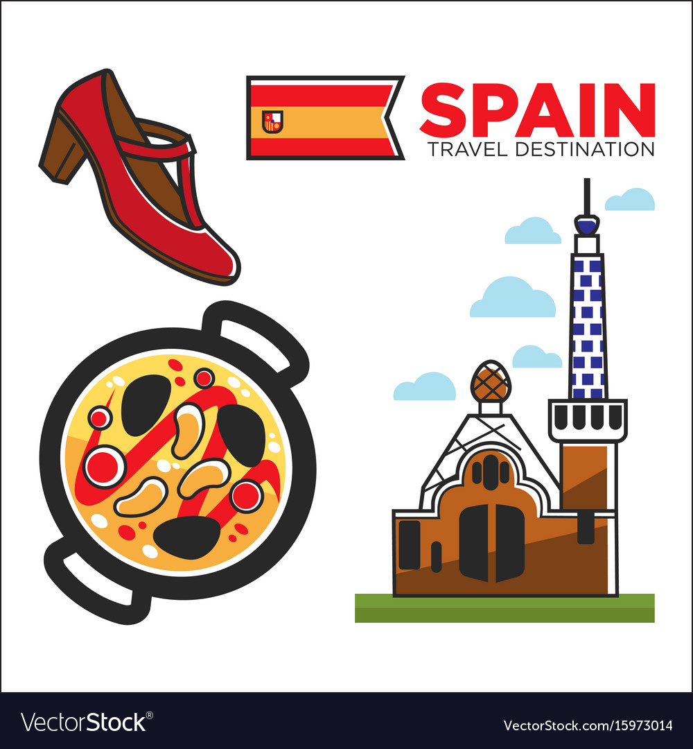 Spain travel destination promotional banner with