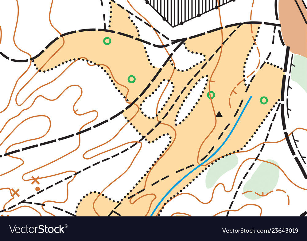 Abstract color topographic highly detailed
