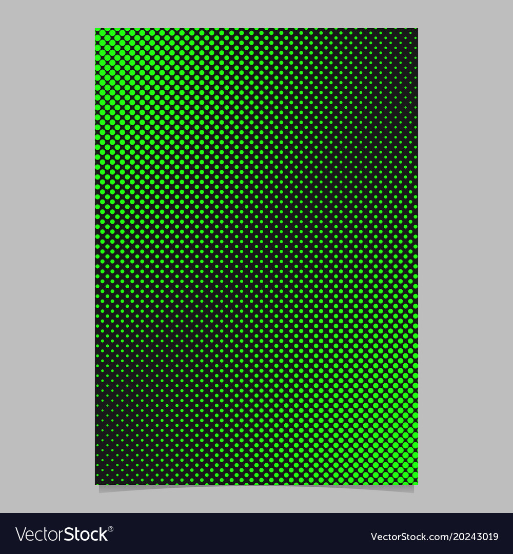 Abstract halftone dot pattern page template