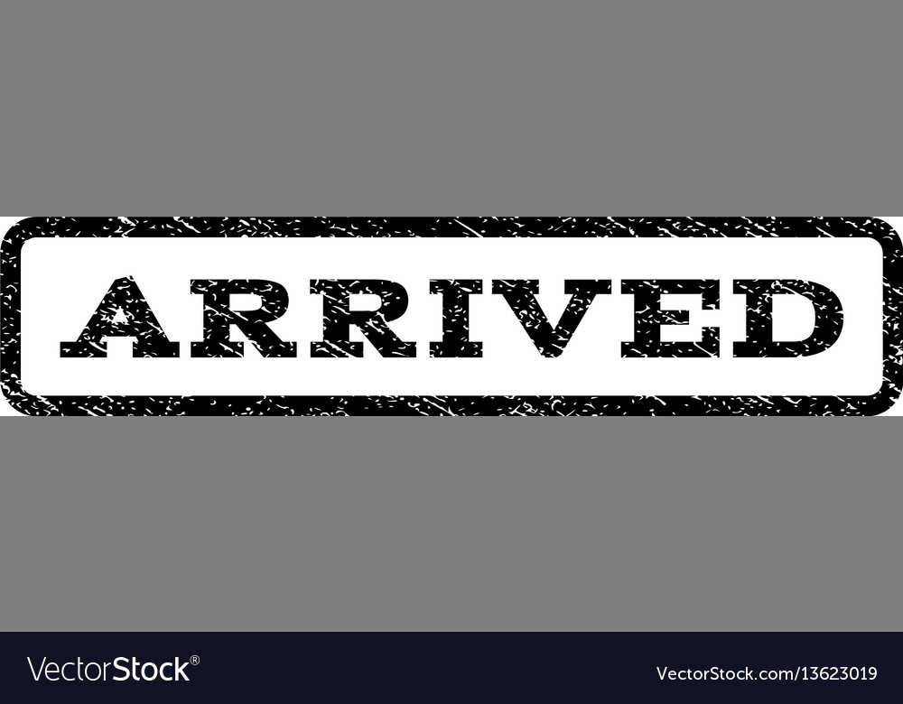 Arrived watermark stamp vector image