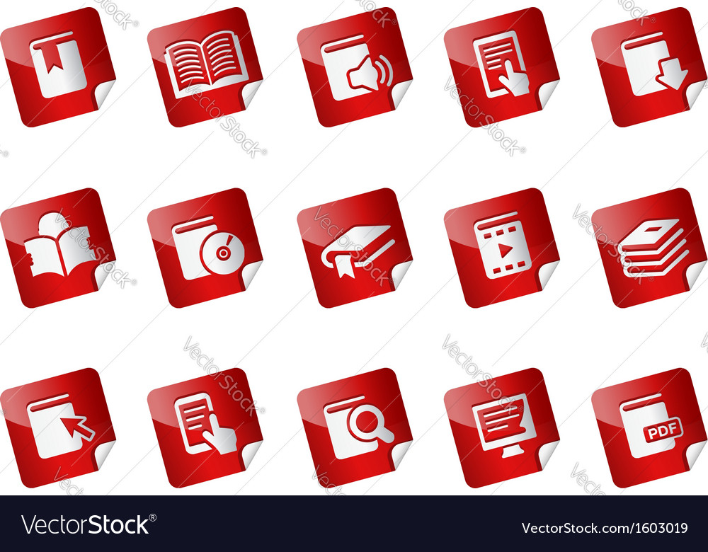 Book Stickers vector image