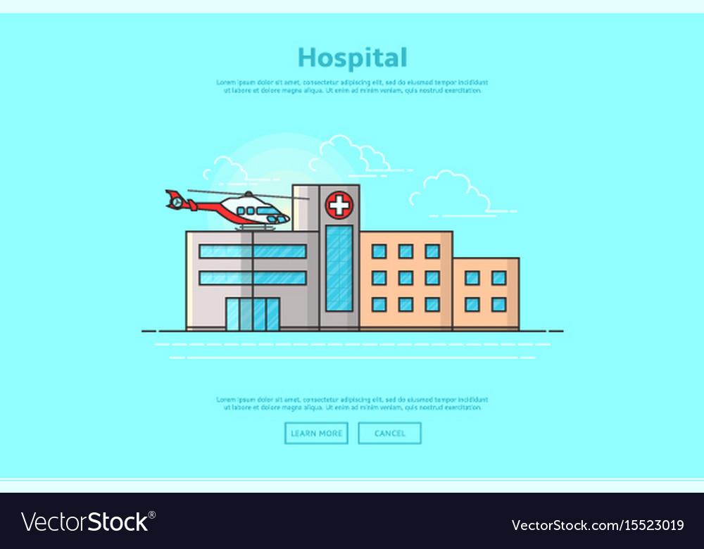 Concept of medicine center vector image