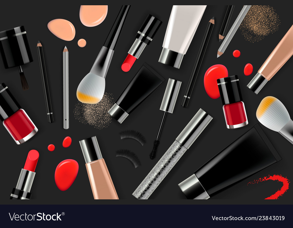 Makeup banner template for online beauty store