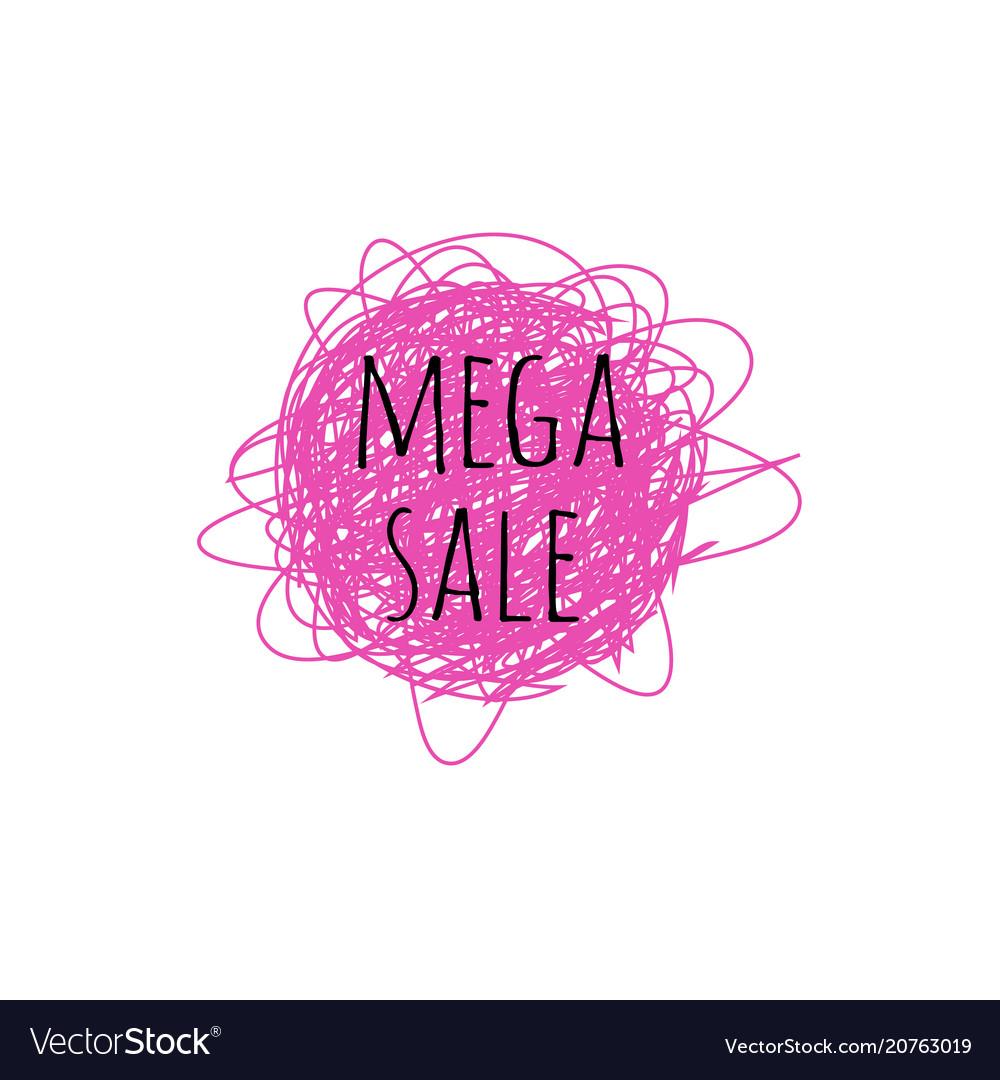 Mega sale grunge doodle sketch 90s