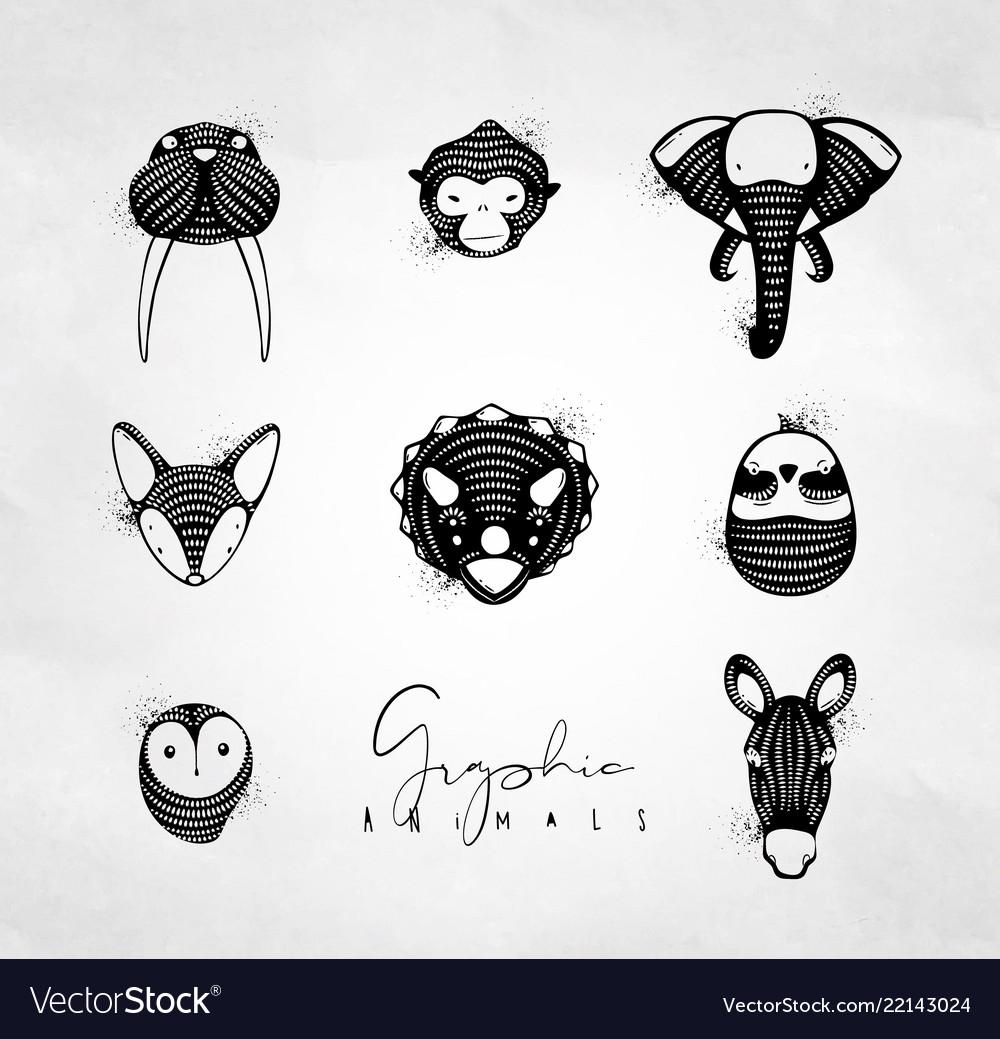 Animals graphic authentic