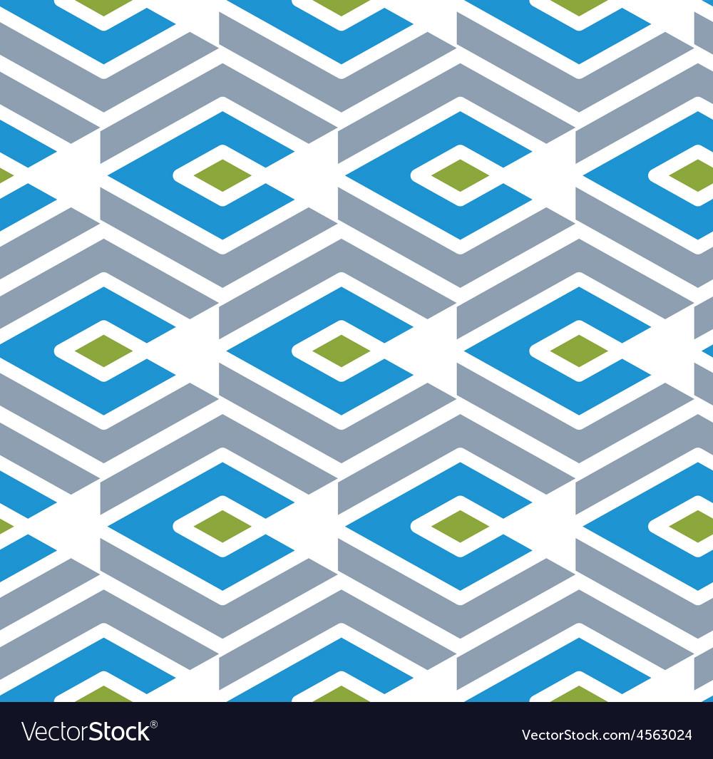 Colorful geometric seamless pattern symmetric vector image
