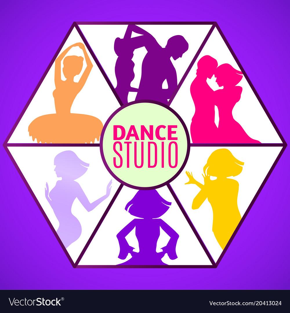 dance studio template royalty free vector image