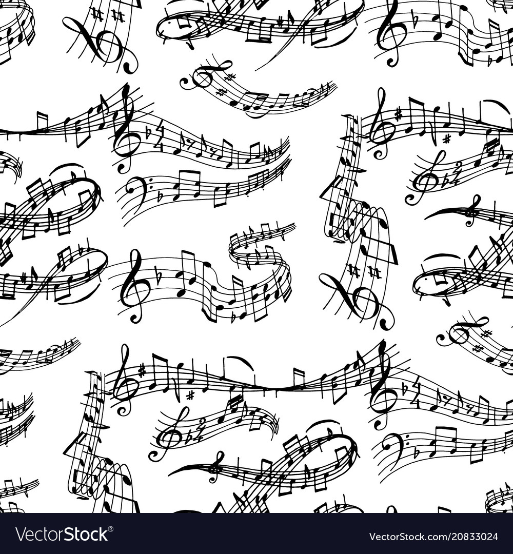 Notes music melody colorfull musician symbols