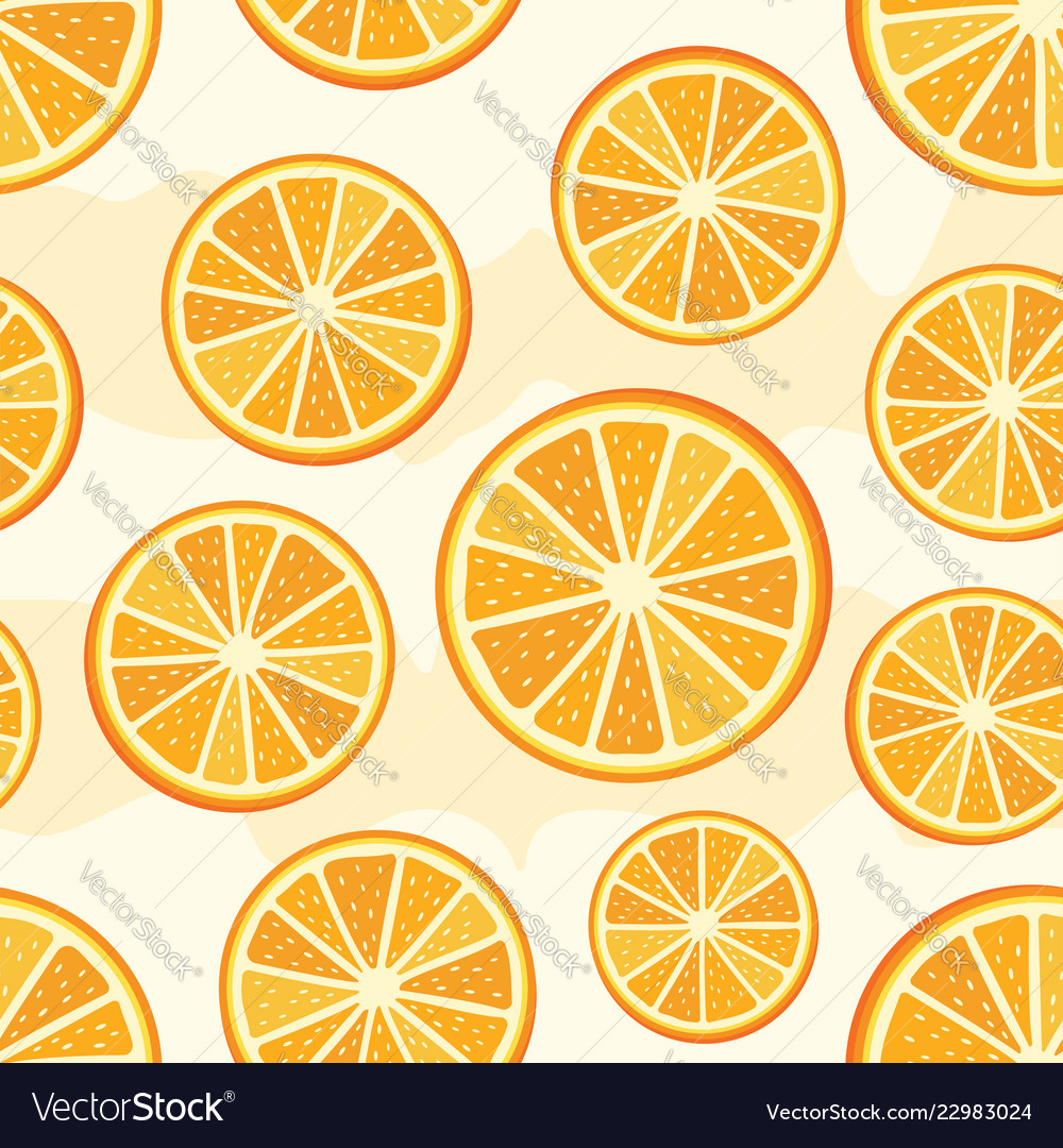 Orange sliced pattern vector