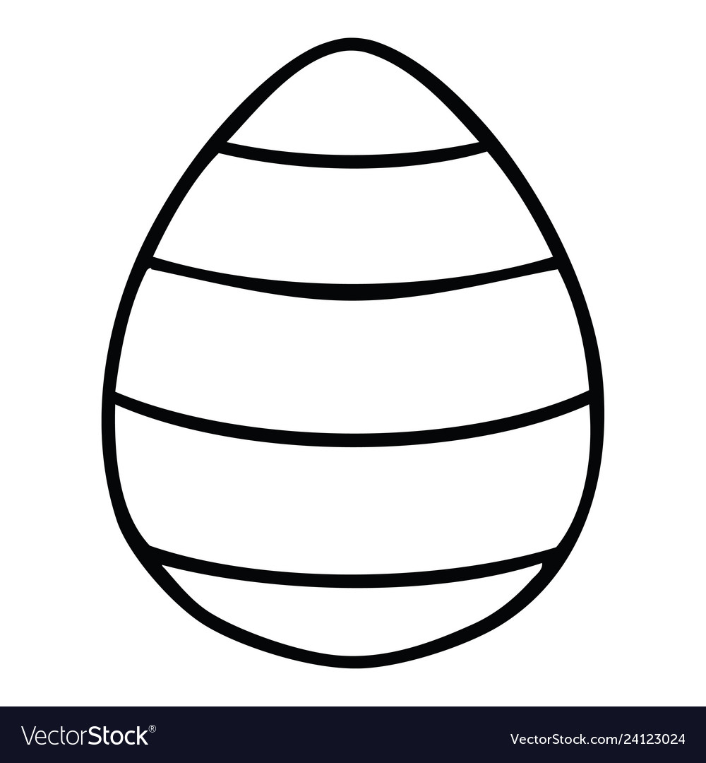 Quirky line drawing cartoon easter egg Royalty Free Vector