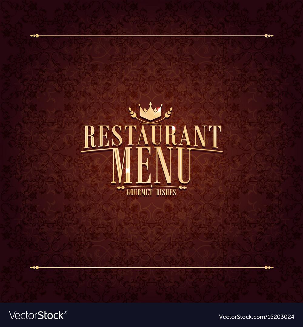 restaurant menu design vintage card royalty free vector