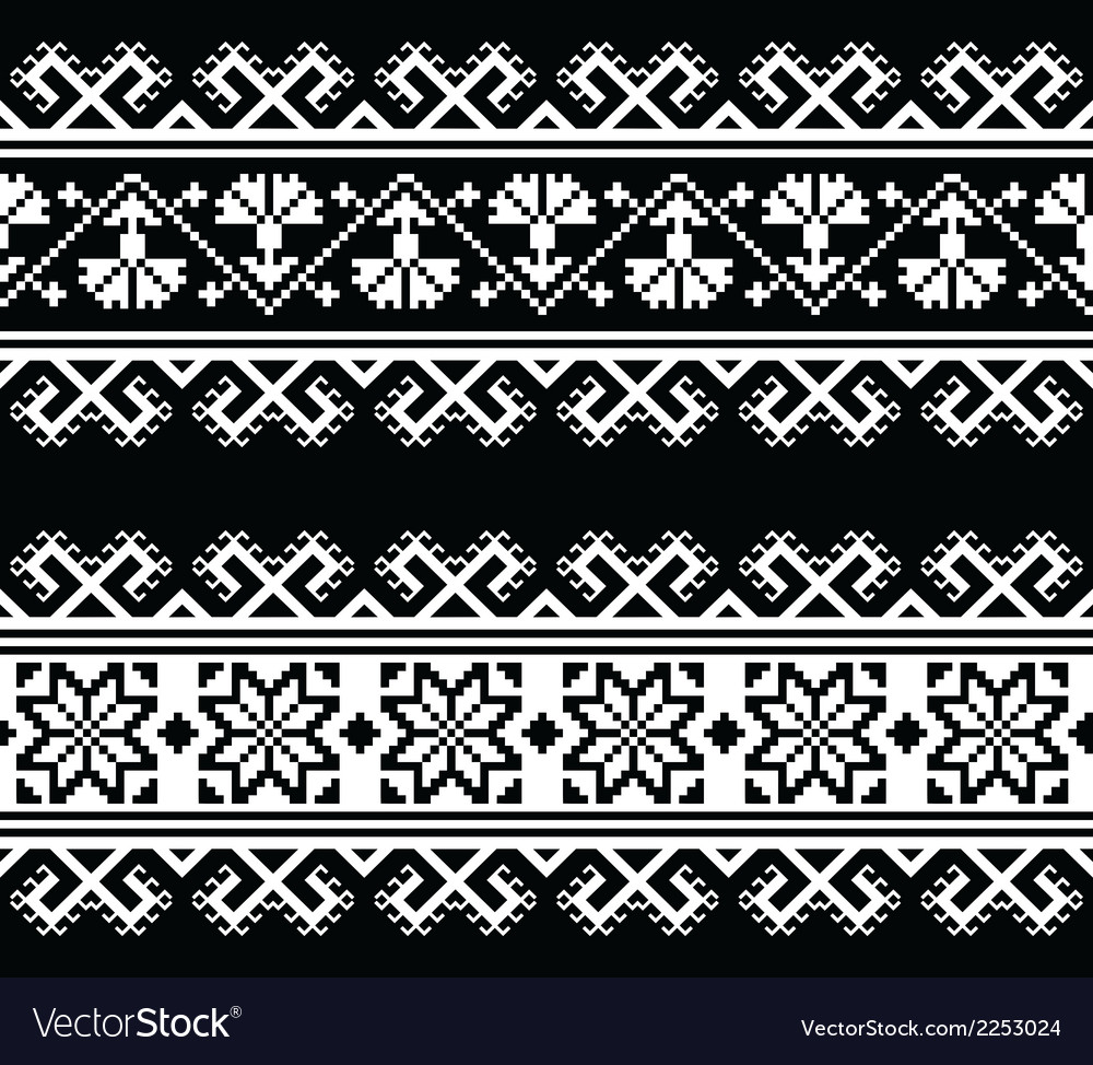 Ukrainian Slavic seamless folk embroidery pattern