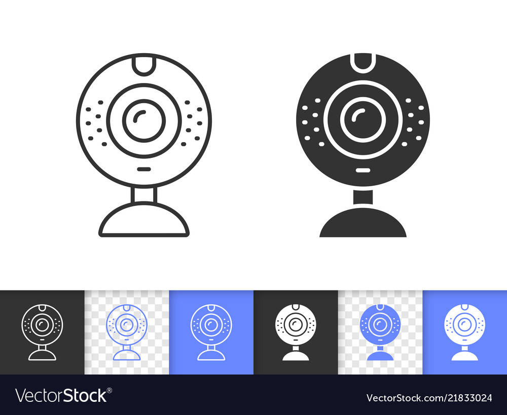 Web camera simple black line icon