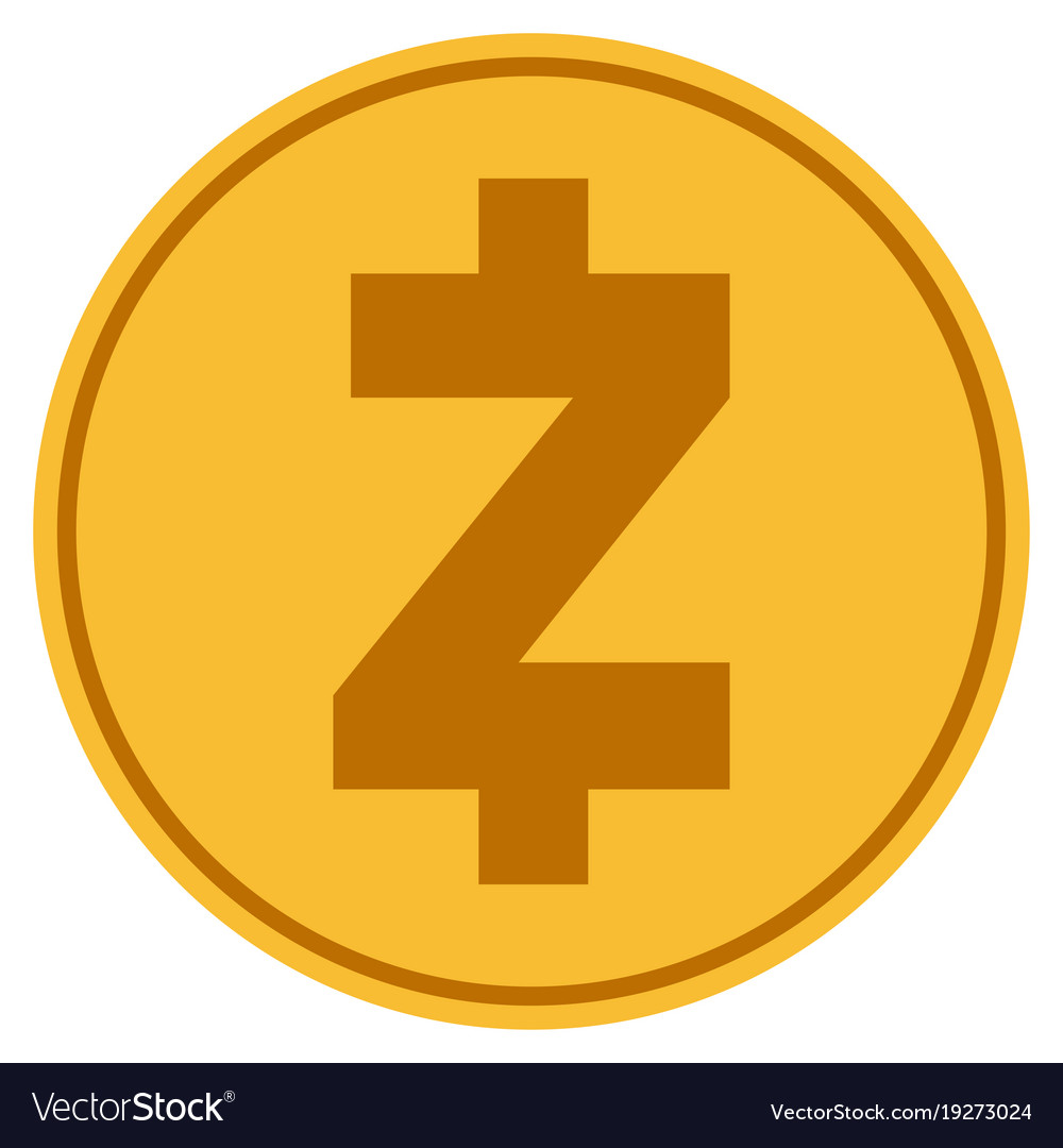 Zcash Gold Coin Vector Image