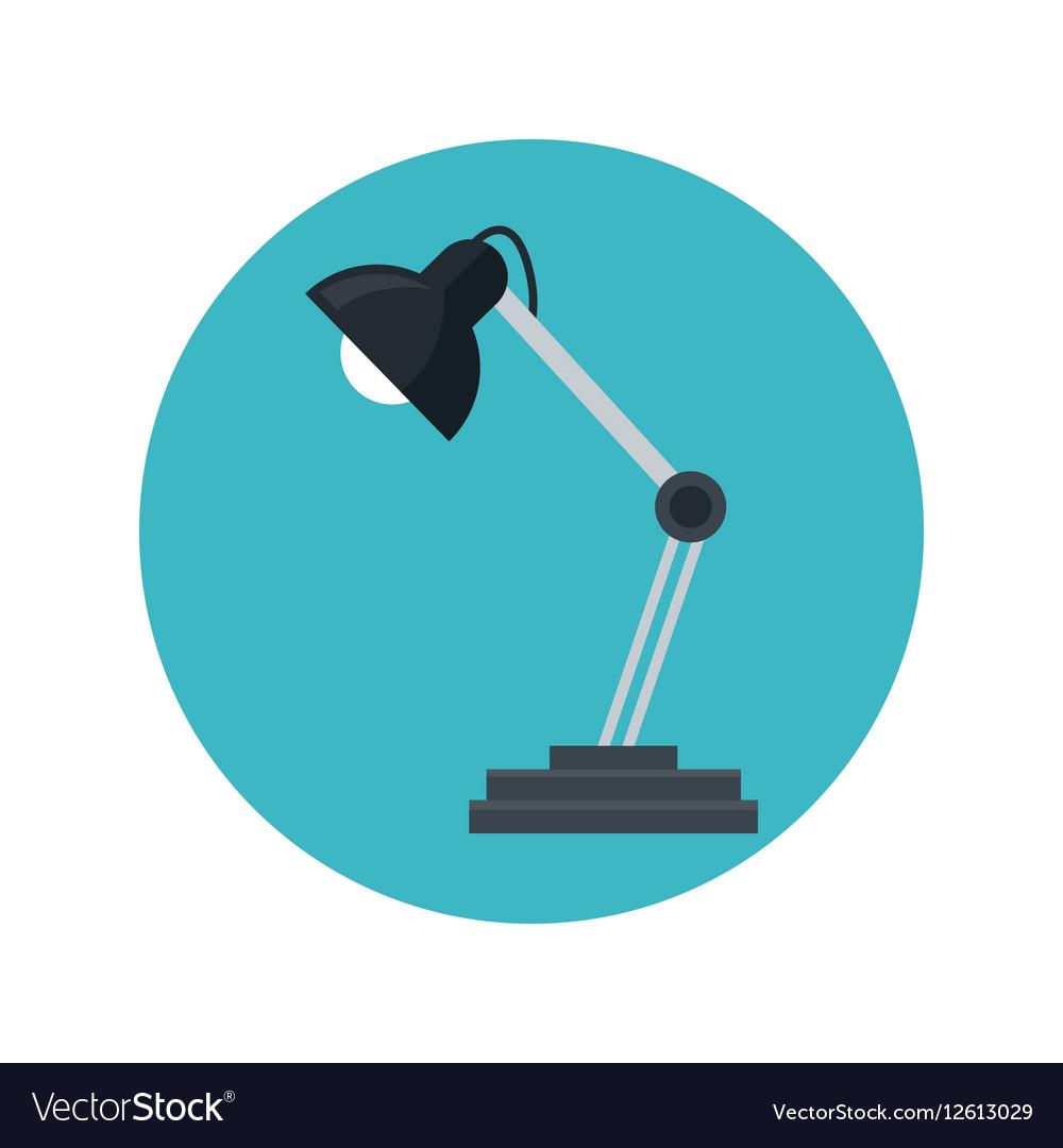 Desk lamp bulb light blue background