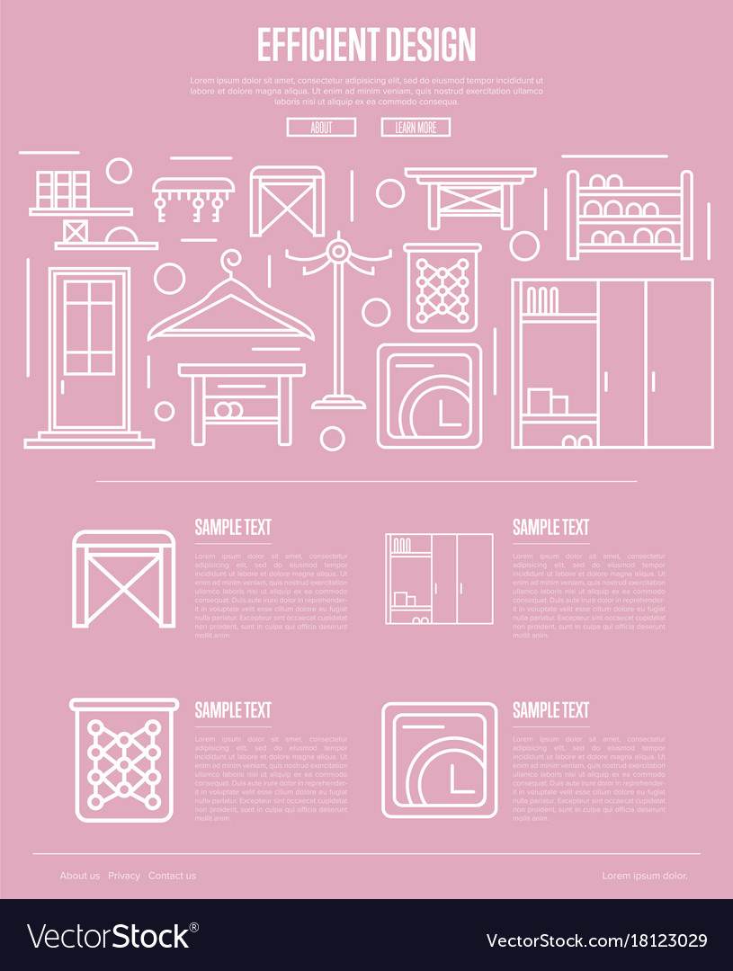 Efficiency hallway space design poster