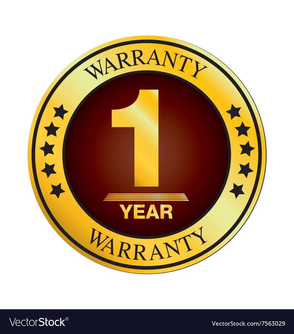 One Year Warranty Design isolated on white