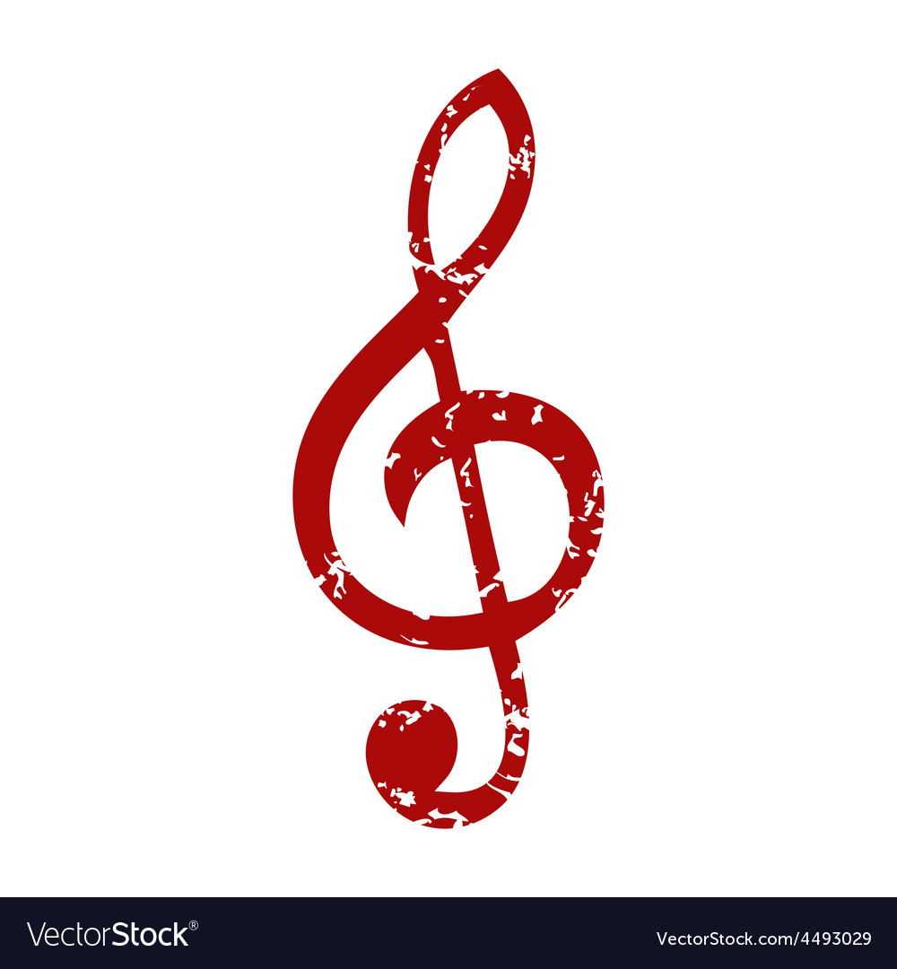 Red Grunge Music Logo Royalty Free Vector Image