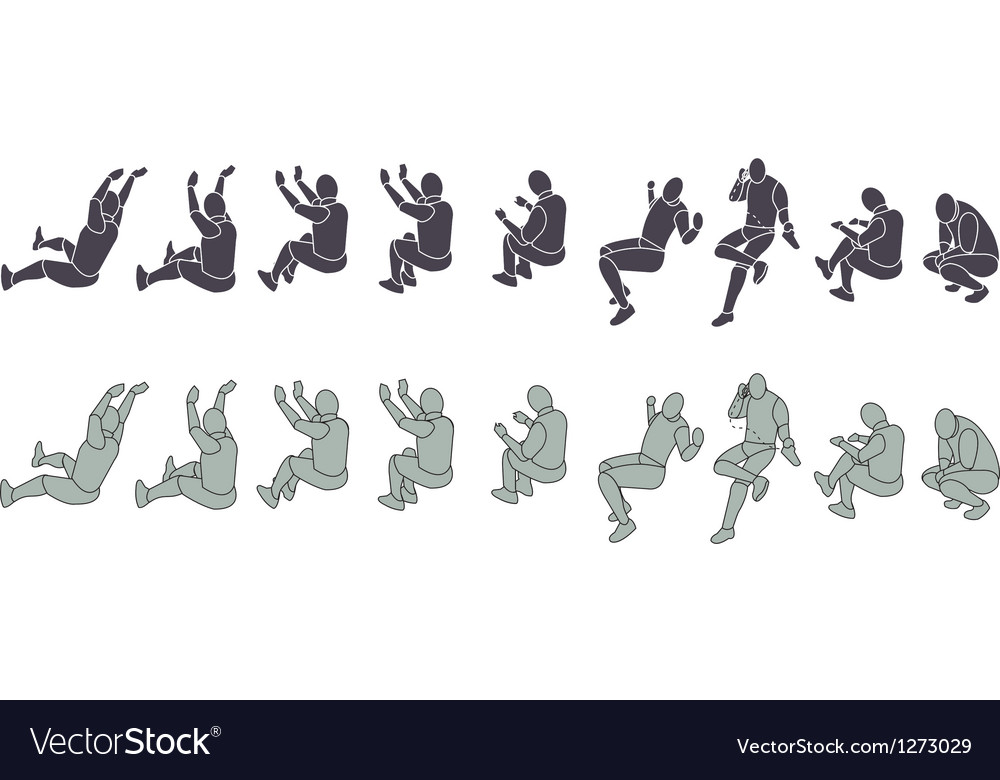 Silhouette Exercising