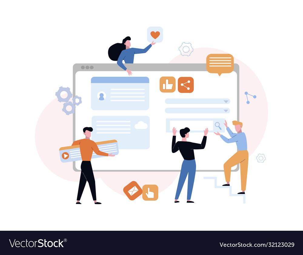 Website development content concept designers