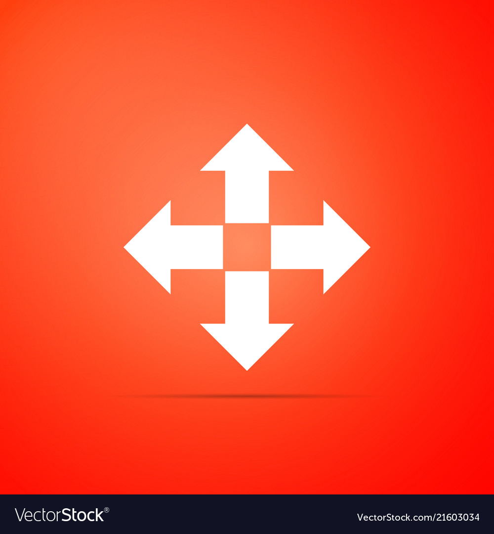 Arrows in four directions icon isolated