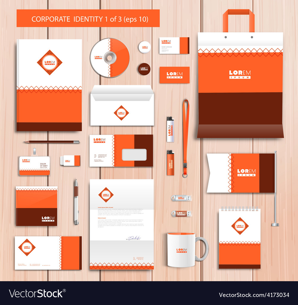 Artistic corporate identity template with