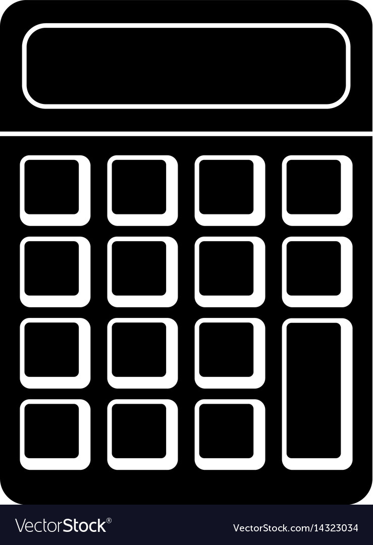Calculator math school pictogram