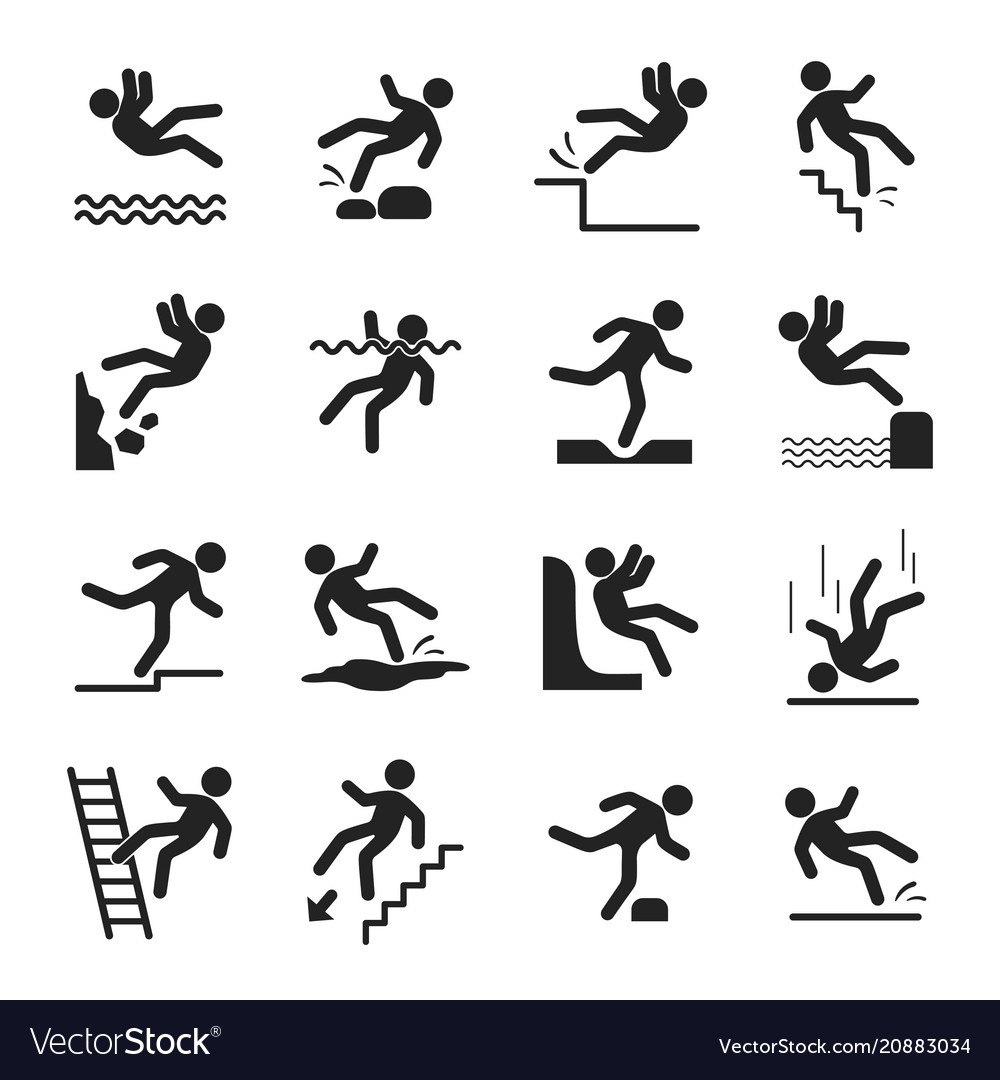 Caution symbols set