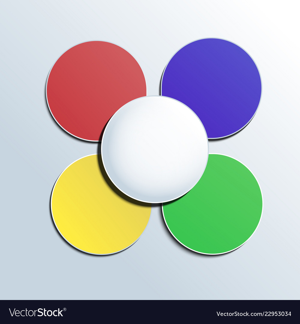 Colorful button on white background for any