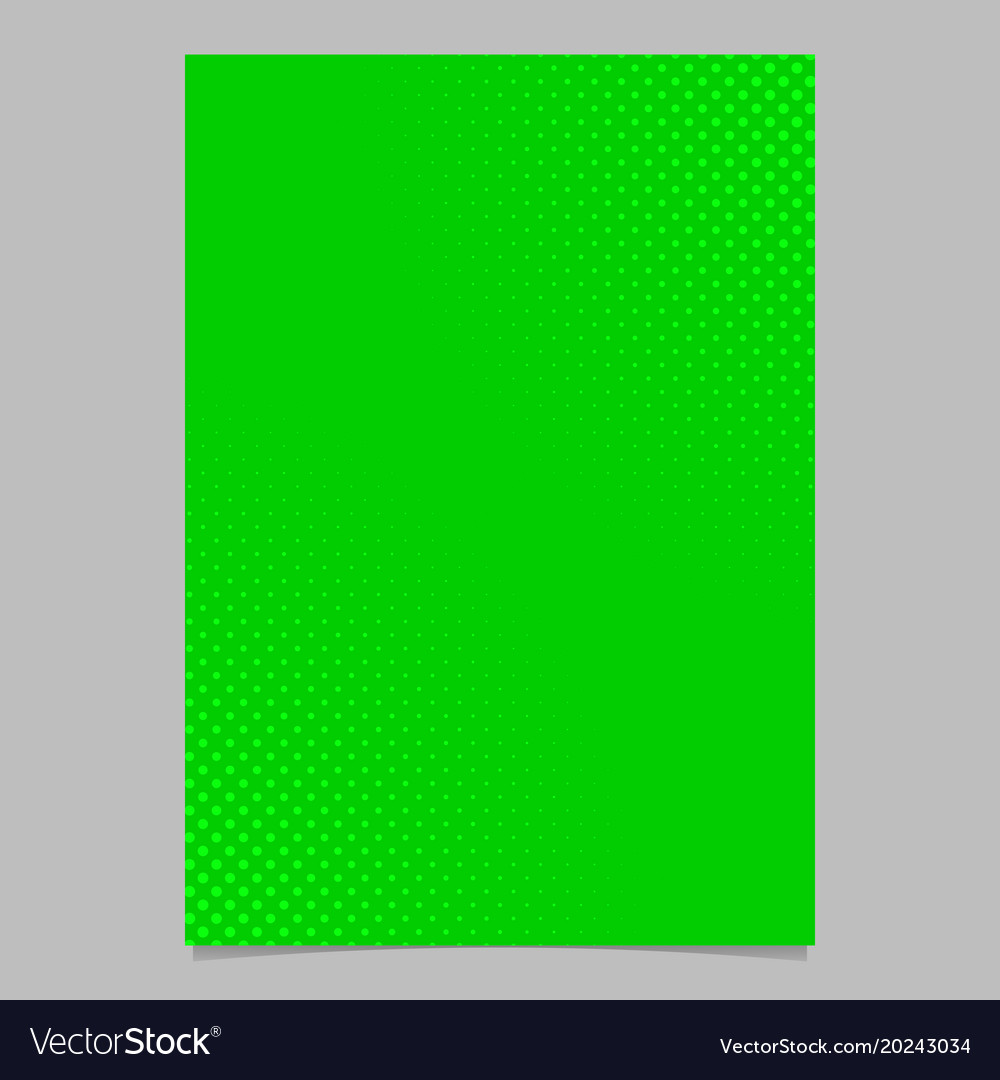 Green halftone dot pattern flyer template vector image