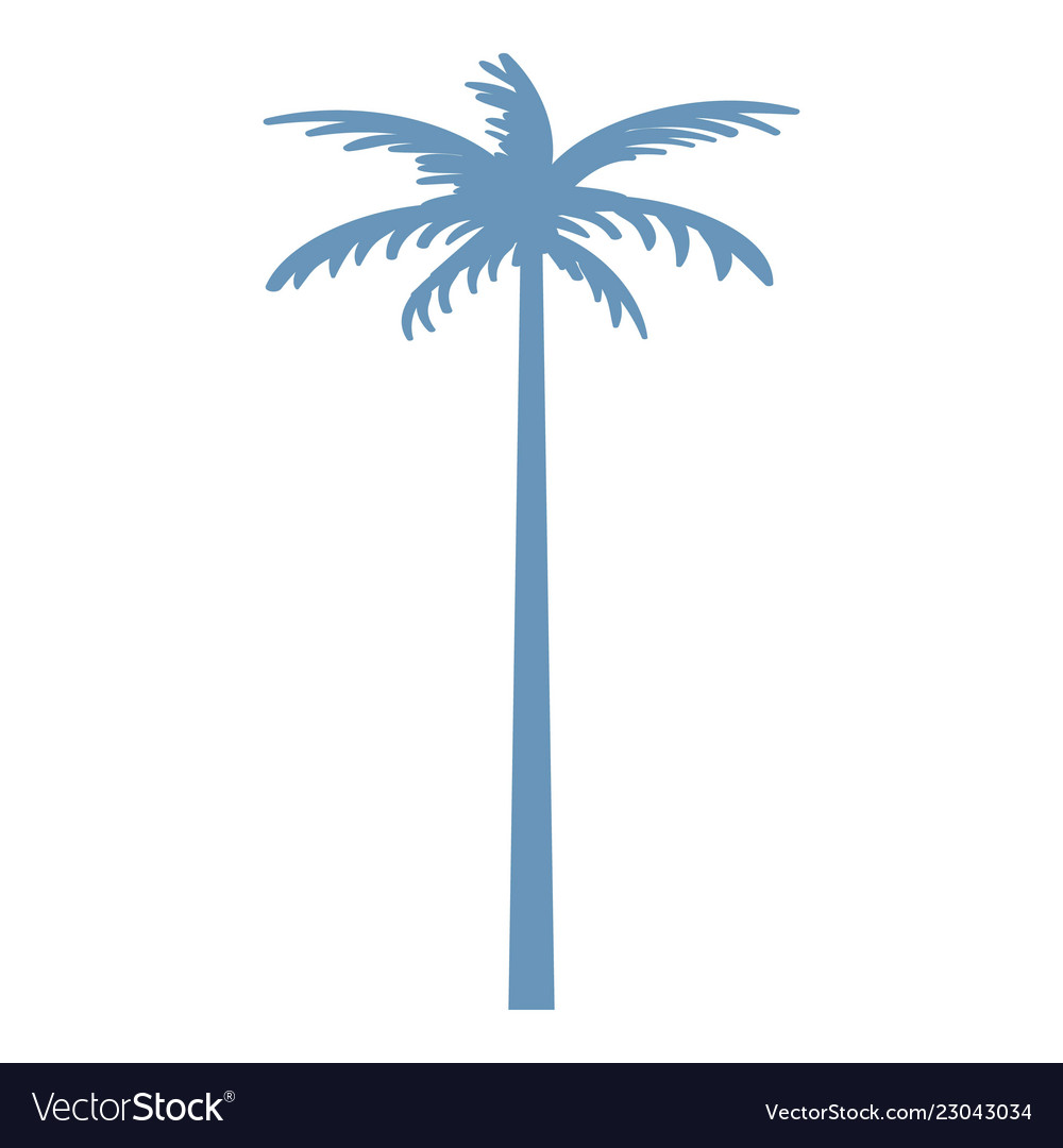 Palm tree icon simple style