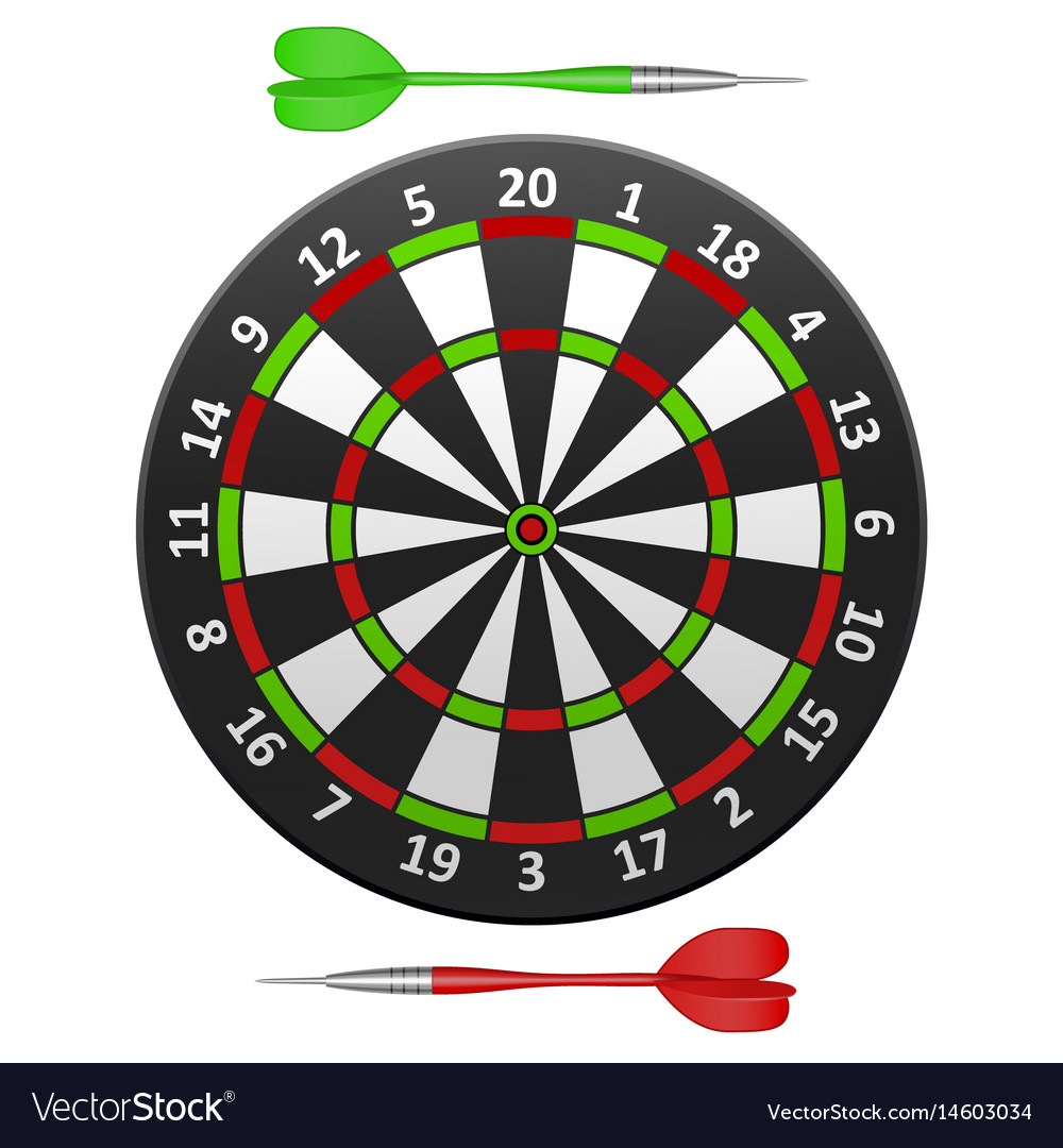 Realistic detailed dart board