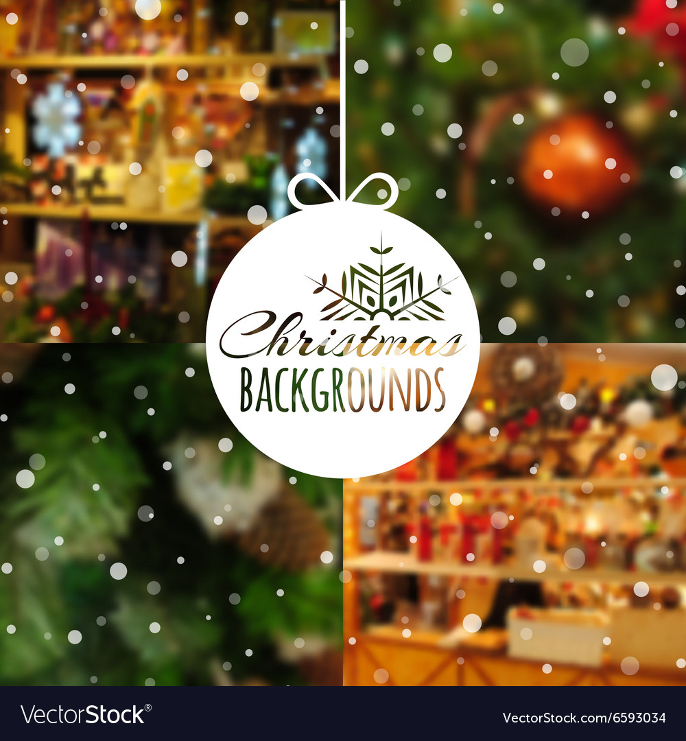 Christmas Backgrounds Free.Set Of Blurred Christmas Backgrounds