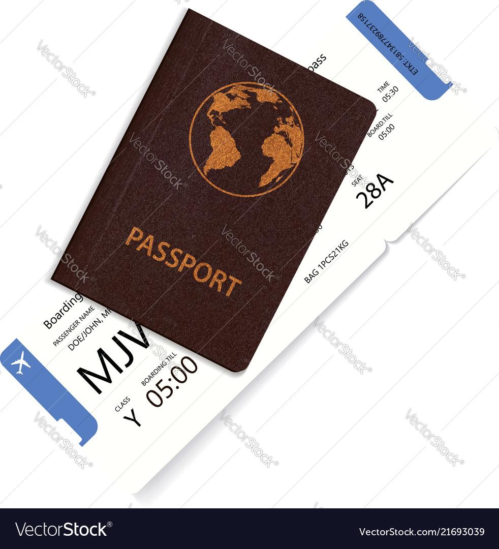Airline passenger boarding pass inside passport