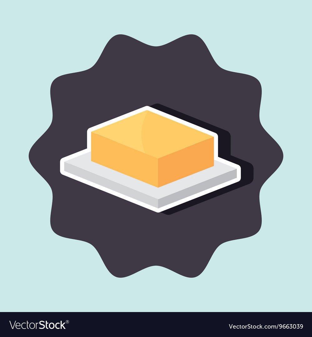 Delicious butter isolated icon design